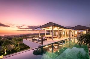 Villa Anahit - Exterior at Sunset